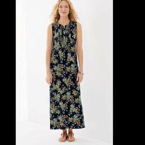 NWT! J Jill Deep Blue wildflower botanical maxi xs